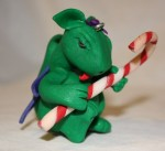 Candy Cane Dragon Ornament - $8