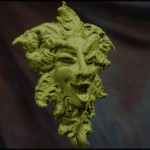 Laughing Green Man Ornament - $15