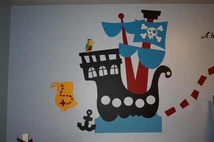Pirate Ship Wall Decal