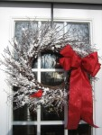 Winter Snow Wreath with Cardinal - $50