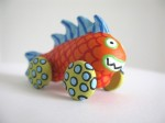 Orange Fish Monster on Wheels - $22