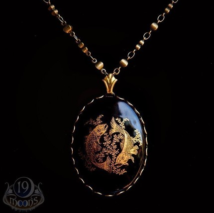 Pisces Fish Cameo - $48