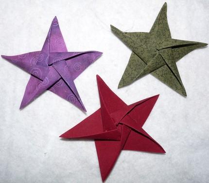 Instructions - How to Make Stars * Origami Stars * Swedish Stars