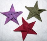 Origami Star Ornaments - $7