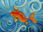 So Koi Watercolor Original - $99