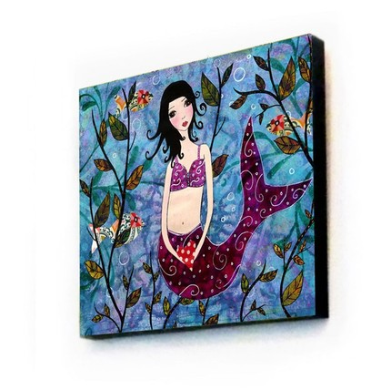 Little Mermaid Art Print on Wood - $35