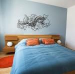 Japanese Koi Fish Wall Decal - $55