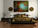 Enormous Koi Fish Abstract Painting - $359
