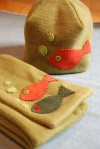Fish Winter Hat and Scarf - $38