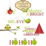 Christmas Titles Clip Art - $3.95