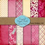 Fancy Pants Digital Paper Pack - $3.99