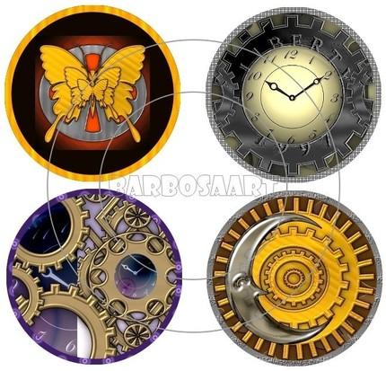 Steampunk Bottle Caps Images - $3.99