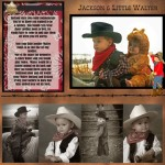 Little Cowboy Digital Premade Scrapbook - $4