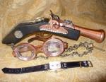 Gun, Goggles, Watch