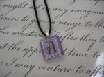 Letter A Glass Tile Pendant - $6