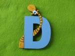 Wooden Giraffe Style Letter D - $15