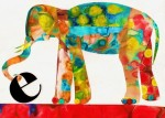 E is for Elephant Print - $15