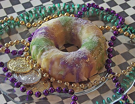 Mardi Gras King Cake Soap - $9.50
