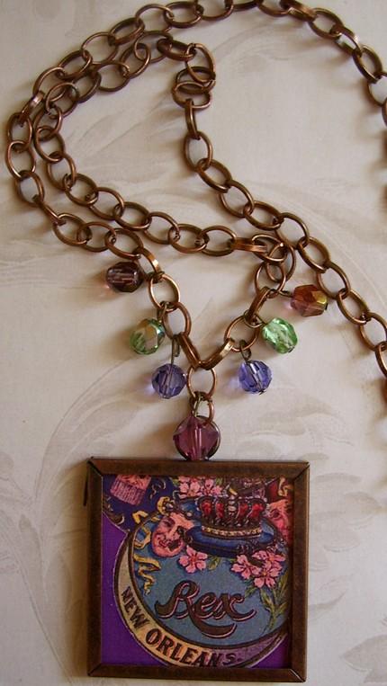 Mardi Gras Necklace - $18