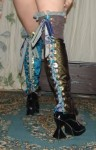 Thigh High Reversible Spats - $195