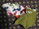 Olive Mardi Gras Bat Cup Cozie - $11