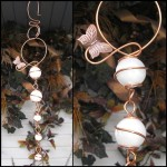 Butterfly Glass Copper Orb Cascade Suncatcher - $16