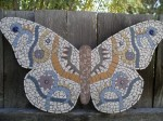 Ceramic Tile Butterfly Mosaic - $80