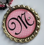 Lovely Lady Personalized Bottle Cap Necklace - $9