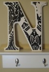 Handpainted Wooden Letter N - $29