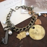 Vintage Tag and Key Bracelet - $49