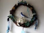 Blue Jay Bliss Dream Catcher - $30