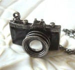 Antiqued Silver Camera Necklace - $15