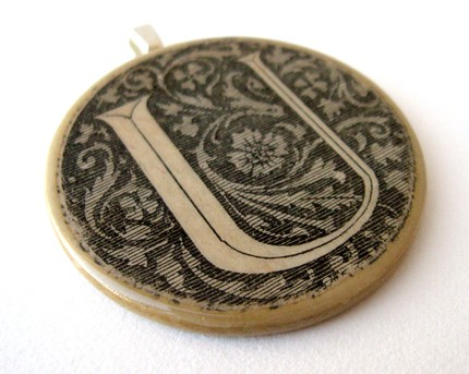 French Dictionary Illustration U Pendant - $12