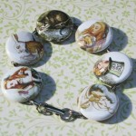 Alice in Wonderland Button Bracelet - $15