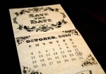 Antique Trifold Save the Date - $3