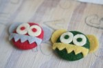 Felt Monster Pins - $5