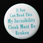 Invisibilty Cloak Pin - $1.50