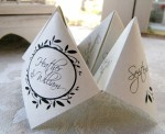 150 Cootie Catcher Wedding Programs - $150