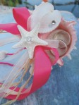 Watermelon Pink Whelk Ring Bearer's Pillow - $16.50