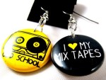 Mix Tape Earrings - $8