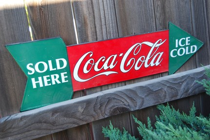 Large Coca-Cola Advertizing Arrow - $52