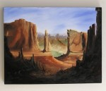 The Wall in Monument Valley Oil Painting - $395 (Santa Clara, Utah)