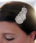 Peacock Crystal Hair Brooch - $38