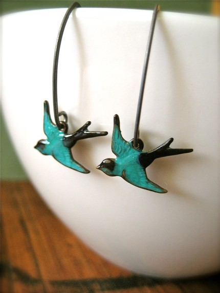Bird in Flight Earrings - $15.75