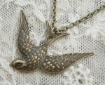 Lonesome Dove Bird Necklace - $14