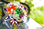 Bold Rainbow Bouqet - $375