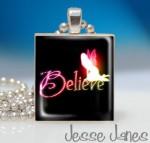 Believe Fairy Scrabble Tile Pendant - $5.95