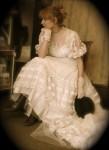 Victorian Vintage Style Wedding Dress - $225