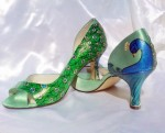 Art Deco Peacock Juliannes - $185