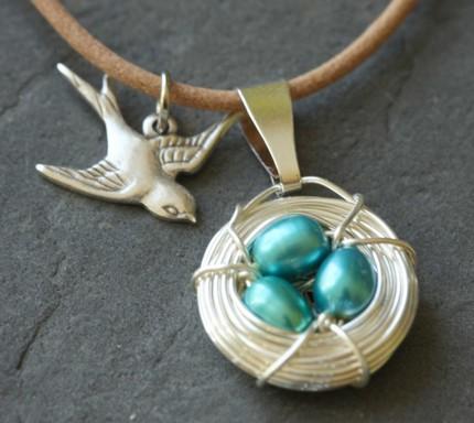 Mother Bird Necklace - $16